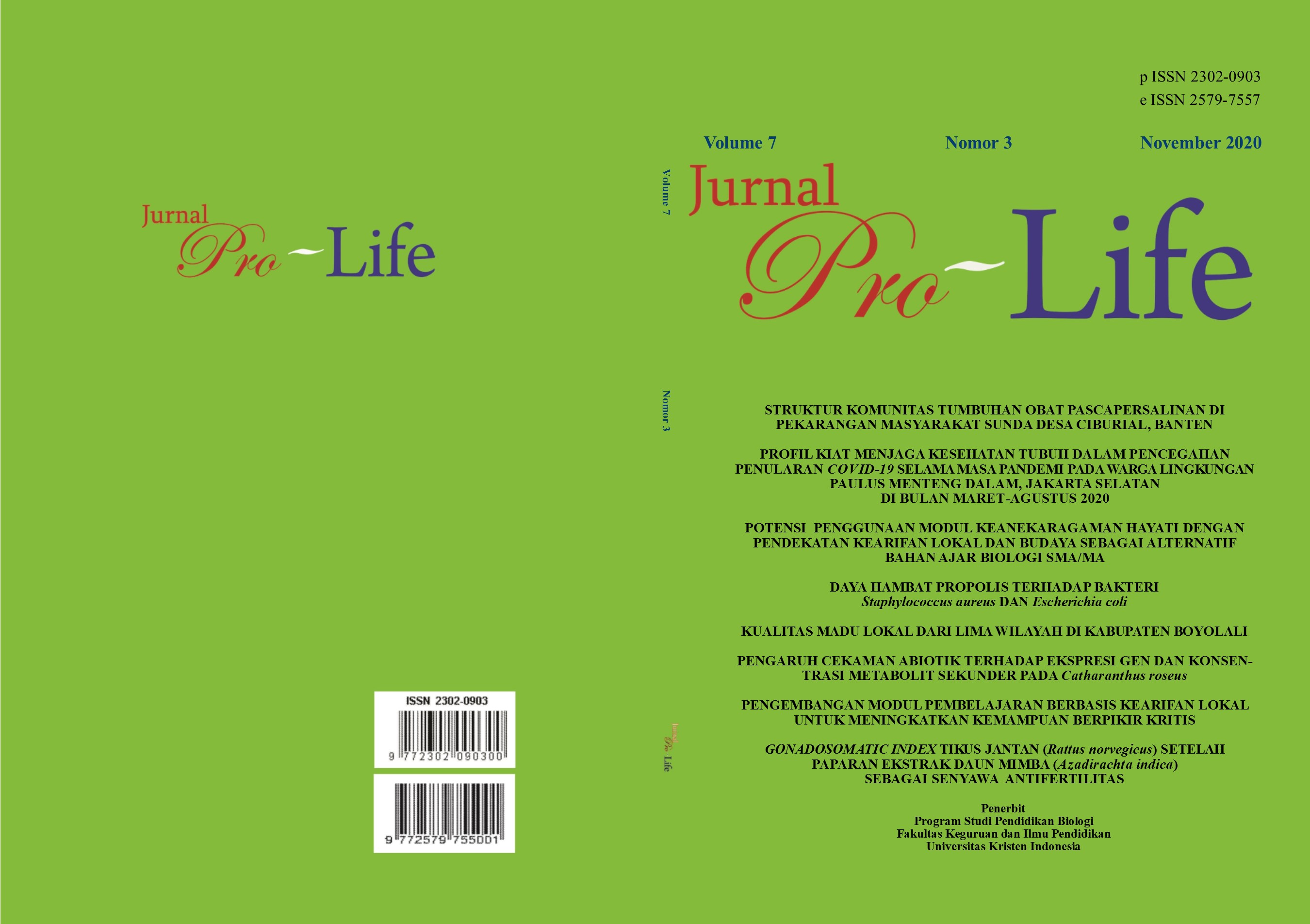 Vol 7 No 3 2020 November Pro Life